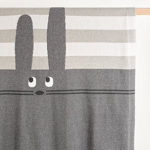 FLOSS - Unisex Baby Knitted Bunny Blanket - Greys