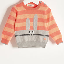 将图片加载到图库查看器,FREDDO - Baby Girl Knitted Bunny Sweater - Sorbet