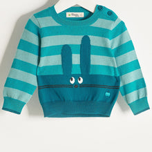 将图片加载到图库查看器,FREDDO - Baby Boy Knitted Bunny Sweater - Teal