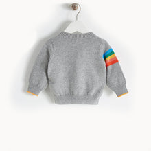 將圖片載入圖庫檢視器 GOOFY - Rainbow Cloud Cardigan - Kids Unisex - Grey