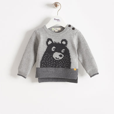 GRIZZLY - BABY - SWEATER - GREY