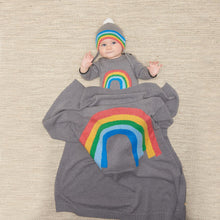 将图片加载到图库查看器,HOPE - Baby Rainbow Intarsia Blanket - GREY