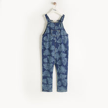 将图片加载到图库查看器,HILO - Baby - Dungaree - DENIM PALM PRINT