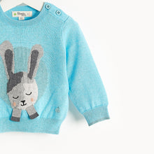 将图片加载到图库查看器,JACKSON - Bunny Intarsia Sweater - Kids Boy - Pale blue
