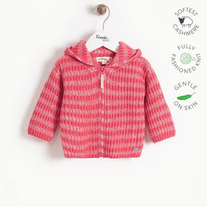 JUDE - Kids Chunky Knitted Cardigan  - MELON