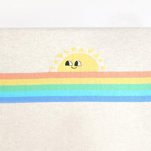 KAHLO - Rainbow Sunshine Baby Blanket - Putty