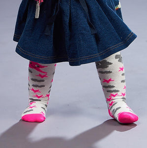 KALLI - Unisex Baby Star & Moon Tights - Pink