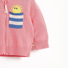 将图片加载到图库查看器,KAPOOR - Pocket Full Of Sunshine Baby Cardigan - Sorbet