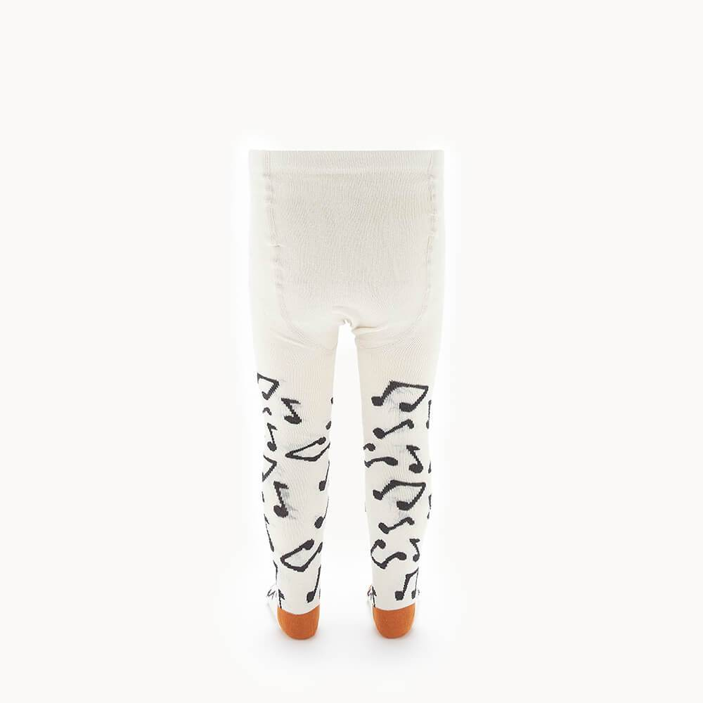 KARMA - Baby Music Note Tights - CREAM
