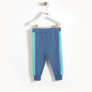 KASS - Knitted Stripe Baby Jogging Trouser - Navy