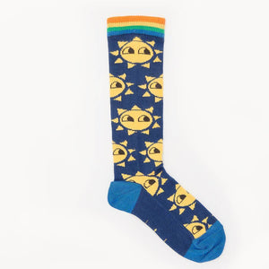 KIDD - Knee Length Sunshine Baby Socks - Navy