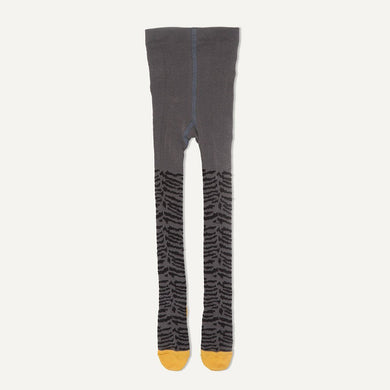 KING - Unisex Baby Tiger Strip Tights - Grey