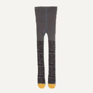 KING - Baby Girl Tiger Strip Tights - Grey