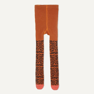 KING - Baby Girl Tiger Strip Tights - Honey