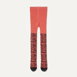 KING - Unisex Baby Tiger Strip Tights - Sorbet