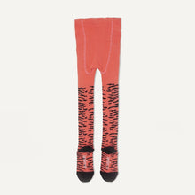 将图片加载到图库查看器,KING - Baby Girl Tiger Strip Tights - Sorbet