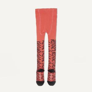 KING - Baby Girl Tiger Strip Tights - Sorbet