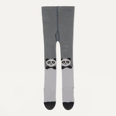 KIRI - Baby Girl Panda Tights - Grey