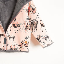将图片加载到图库查看器,KOOPA - Printed Hoodie Lined With Faux Fur - Baby Girl - Pink cat print