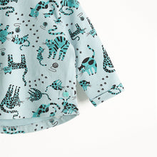 将图片加载到图库查看器,KRAZY - Long Sleeves Printed T-Shirt - Baby Boy - Teal cat print
