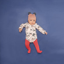 将图片加载到图库查看器,KRUSH - Printed Long Sleeves Bodysuit - Baby Girl - Pink cat print