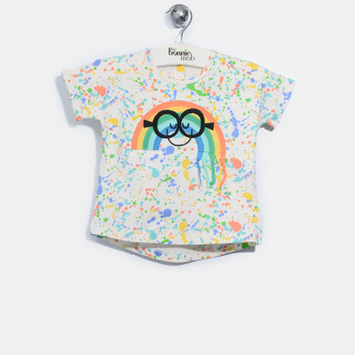 L-ACE-Smiley Rainbow Tassel T-shirt-Kids-Splatter