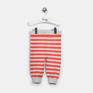 L-ACE-Stripe Mix And Match Trouser-Kids Girl-Grey/Red