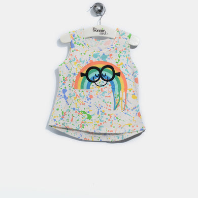 L-AIDEN-Smiley Rainbow Tassel Vest-Kids-Splatter