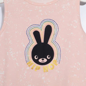 L-BUSY-Hip Hop Bunny Long Jumpsuit- Girl-Blush