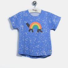 将图片加载到图库查看器,L-CARL-Rainbow Tortoise T-shirt-Kids-Sea