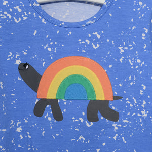 L-CARL-Rainbow Tortoise T-shirt-Kids-Sea