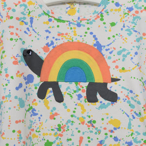 L-CARL-Rainbow Tortoise T-shirt-Kids-Splatter