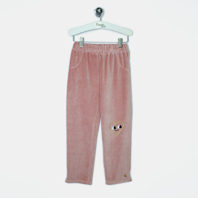 L-CHLOE-Velour Trousers-Kids Girl-Pink