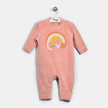 将图片加载到图库查看器,L-CLARA-Velour Applique Playsuit-Baby Girl-Pink