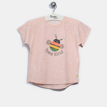 将图片加载到图库查看器,L-ELLIE-Bee Happy T-Shirt-Kids Girl-Blush
