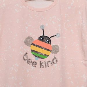 L-ELLIE-Bee Happy T-Shirt-Kids Girl-Blush