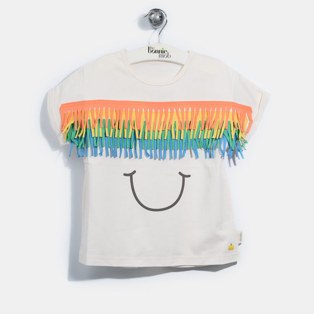 L-FRANKIE-Fringe Face T-shirt-Kids-Putty