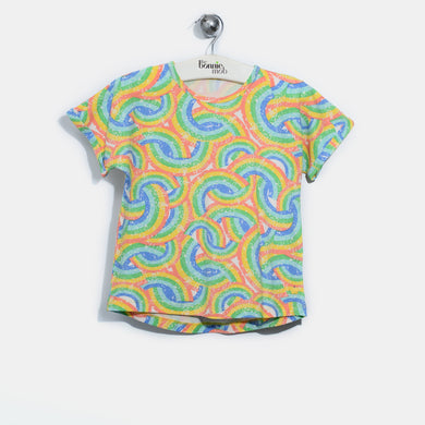 L-GARY-Rainbow Print T-shirt-Kids-Rainbow