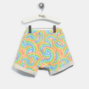 L-GEORGE-Rainbow Print Comfy Shorts-Kids-Rainbow