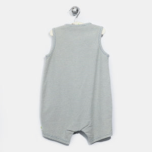 L-HARRY-Denim Stripe A-line Romper-Baby-Light Denim