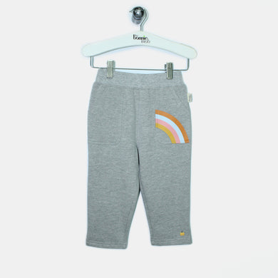 L-HENRY-Brushed Cotton Trousers-Baby-Light Grey