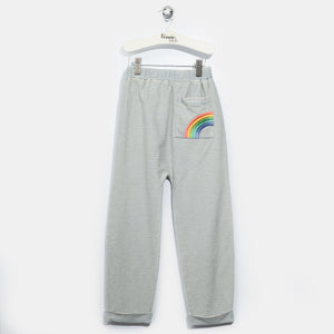 L-HOPE-Denim Stripe Trousers-Kids-Light Denim