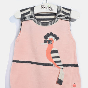 L-JAN-Happy Hoopoe Romper-Baby Girl-Blush