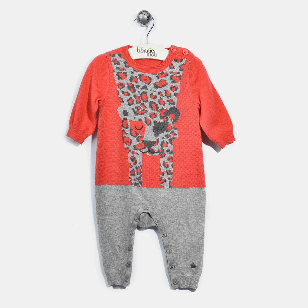 L-LENNY-Leopard Playsuit-Baby Girl-Red