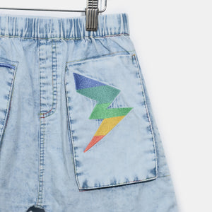 L-LEXI-Chambray Hareem Shorts-Kids-Light Denim