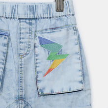 將圖片載入圖庫檢視器 L-LEXI-Chambray Hareem Shorts-Baby-Light Denim