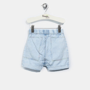 L-LEXI-Chambray Hareem Shorts-Baby-Light Denim