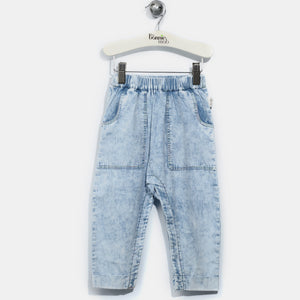 L-LIAM-Chambray Hareem Trousers-Baby-Light Denim