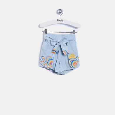 L-MALIA - Kids - Shorts - VINTAGE DENIM