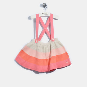L-NALA-Colourblock Skater Skirt-Kids Girl-Blush